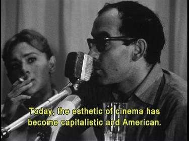 Jean-Luc Godard op het filmfestival van Venetië, 1967